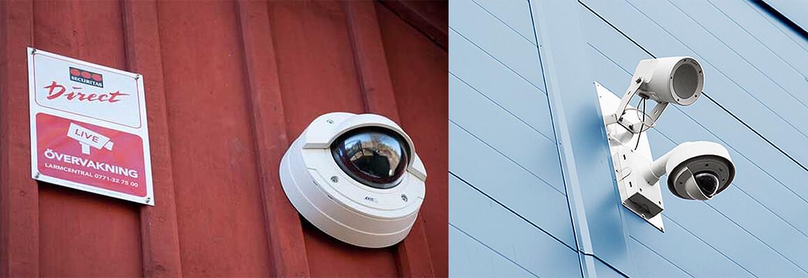 Kameraövervakning är ett effektivt skydd för att förebygga brott.